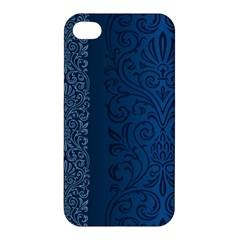 Fabric Blue Batik Apple Iphone 4/4s Premium Hardshell Case by Alisyart