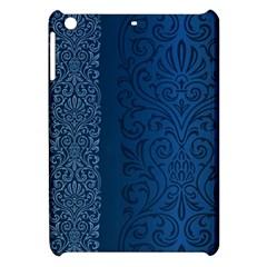 Fabric Blue Batik Apple Ipad Mini Hardshell Case by Alisyart