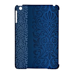 Fabric Blue Batik Apple Ipad Mini Hardshell Case (compatible With Smart Cover) by Alisyart