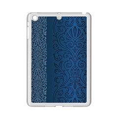 Fabric Blue Batik Ipad Mini 2 Enamel Coated Cases by Alisyart