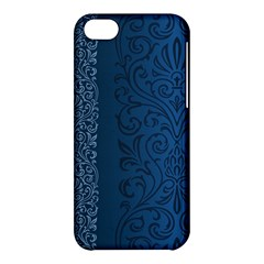 Fabric Blue Batik Apple Iphone 5c Hardshell Case by Alisyart