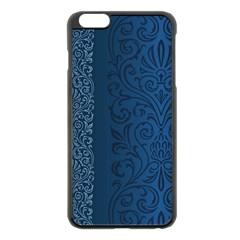 Fabric Blue Batik Apple Iphone 6 Plus/6s Plus Black Enamel Case by Alisyart