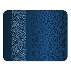 Fabric Blue Batik Double Sided Flano Blanket (large)  by Alisyart