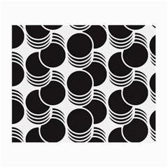Floral Geometric Circle Black White Hole Small Glasses Cloth by Alisyart