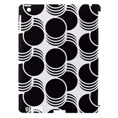 Floral Geometric Circle Black White Hole Apple Ipad 3/4 Hardshell Case (compatible With Smart Cover) by Alisyart