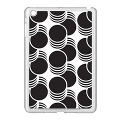 Floral Geometric Circle Black White Hole Apple Ipad Mini Case (white) by Alisyart