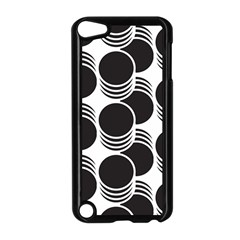 Floral Geometric Circle Black White Hole Apple Ipod Touch 5 Case (black) by Alisyart