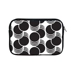 Floral Geometric Circle Black White Hole Apple Ipad Mini Zipper Cases by Alisyart