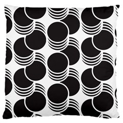 Floral Geometric Circle Black White Hole Standard Flano Cushion Case (two Sides) by Alisyart