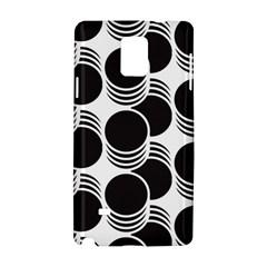 Floral Geometric Circle Black White Hole Samsung Galaxy Note 4 Hardshell Case by Alisyart