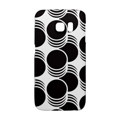 Floral Geometric Circle Black White Hole Galaxy S6 Edge by Alisyart