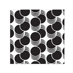 Floral Geometric Circle Black White Hole Small Satin Scarf (square) by Alisyart