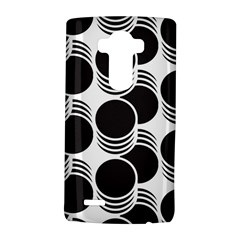 Floral Geometric Circle Black White Hole Lg G4 Hardshell Case by Alisyart