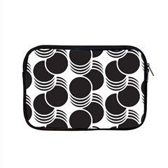 Floral Geometric Circle Black White Hole Apple Macbook Pro 15  Zipper Case by Alisyart