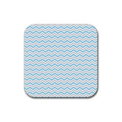 Free Plushie Wave Chevron Blue Grey Gray Rubber Coaster (square)  by Alisyart