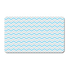 Free Plushie Wave Chevron Blue Grey Gray Magnet (rectangular) by Alisyart