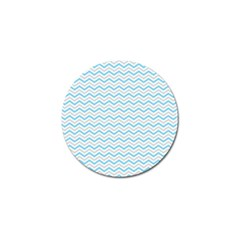 Free Plushie Wave Chevron Blue Grey Gray Golf Ball Marker (4 Pack) by Alisyart