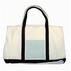 Free Plushie Wave Chevron Blue Grey Gray Two Tone Tote Bag by Alisyart