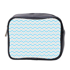 Free Plushie Wave Chevron Blue Grey Gray Mini Toiletries Bag 2 Side by Alisyart