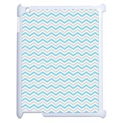 Free Plushie Wave Chevron Blue Grey Gray Apple Ipad 2 Case (white) by Alisyart