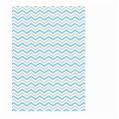 Free Plushie Wave Chevron Blue Grey Gray Large Garden Flag (two Sides) by Alisyart