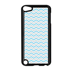 Free Plushie Wave Chevron Blue Grey Gray Apple Ipod Touch 5 Case (black) by Alisyart