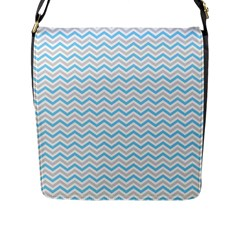 Free Plushie Wave Chevron Blue Grey Gray Flap Messenger Bag (l)  by Alisyart