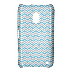 Free Plushie Wave Chevron Blue Grey Gray Nokia Lumia 620 by Alisyart