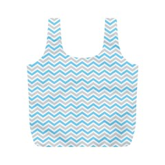 Free Plushie Wave Chevron Blue Grey Gray Full Print Recycle Bags (m)  by Alisyart