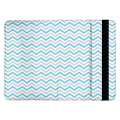 Free Plushie Wave Chevron Blue Grey Gray Samsung Galaxy Tab Pro 12 2  Flip Case by Alisyart