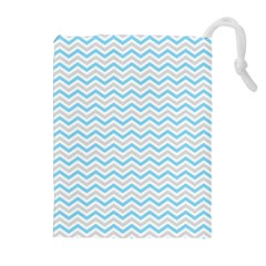 Free Plushie Wave Chevron Blue Grey Gray Drawstring Pouches (extra Large) by Alisyart