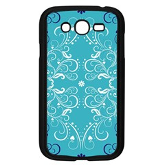 Flower Leaf Floral Love Heart Sunflower Rose Blue White Samsung Galaxy Grand Duos I9082 Case (black) by Alisyart