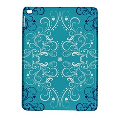Flower Leaf Floral Love Heart Sunflower Rose Blue White Ipad Air 2 Hardshell Cases by Alisyart