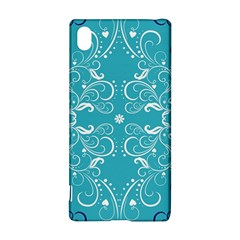 Flower Leaf Floral Love Heart Sunflower Rose Blue White Sony Xperia Z3+ by Alisyart