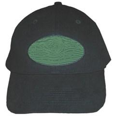 Illustration Green Grains Line Black Cap by Alisyart