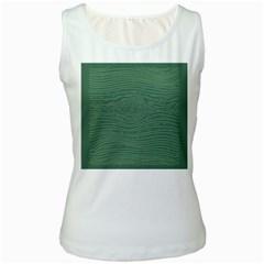 Illustration Green Grains Line Women s White Tank Top by Alisyart