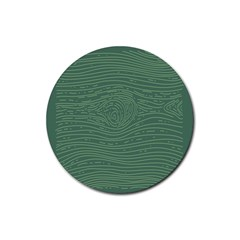 Illustration Green Grains Line Rubber Coaster (round)  by Alisyart