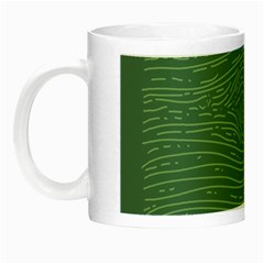 Illustration Green Grains Line Night Luminous Mugs by Alisyart