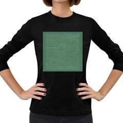 Illustration Green Grains Line Women s Long Sleeve Dark T Shirts by Alisyart