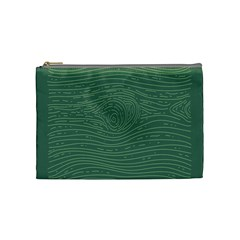 Illustration Green Grains Line Cosmetic Bag (medium)  by Alisyart