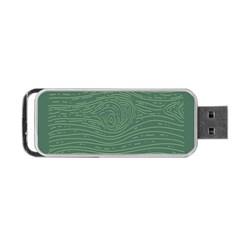 Illustration Green Grains Line Portable Usb Flash (one Side) by Alisyart