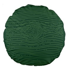 Illustration Green Grains Line Large 18  Premium Round Cushions by Alisyart