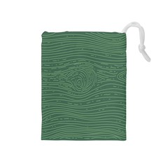 Illustration Green Grains Line Drawstring Pouches (medium)  by Alisyart