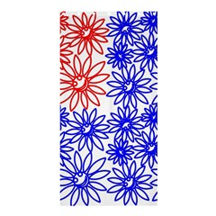Flower Floral Smile Face Red Blue Sunflower Shower Curtain 36  X 72  (stall)  by Alisyart