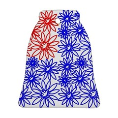 Flower Floral Smile Face Red Blue Sunflower Bell Ornament (two Sides) by Alisyart