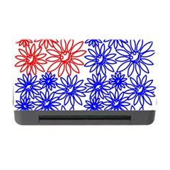 Flower Floral Smile Face Red Blue Sunflower Memory Card Reader With Cf by Alisyart