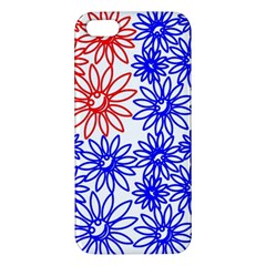 Flower Floral Smile Face Red Blue Sunflower Apple Iphone 5 Premium Hardshell Case by Alisyart