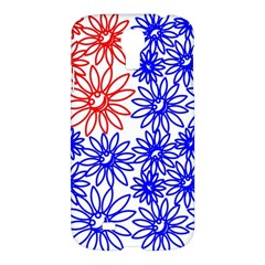 Flower Floral Smile Face Red Blue Sunflower Samsung Galaxy S4 I9500/i9505 Hardshell Case by Alisyart