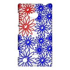 Flower Floral Smile Face Red Blue Sunflower Nokia Lumia 720 by Alisyart