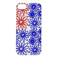 Flower Floral Smile Face Red Blue Sunflower Apple Iphone 5s/ Se Hardshell Case by Alisyart
